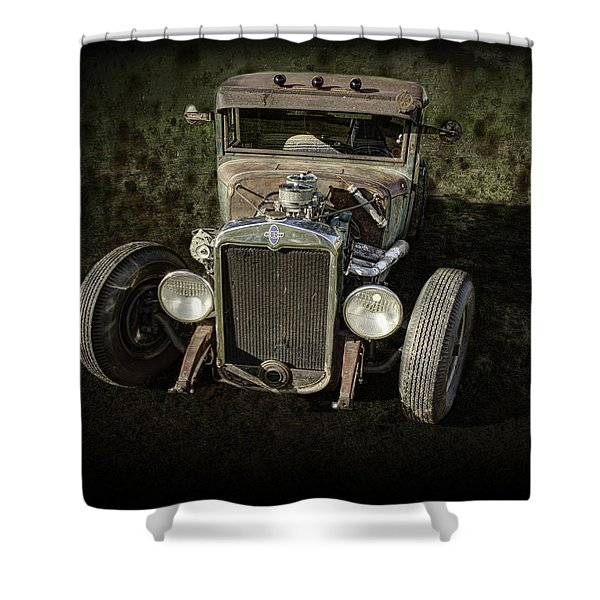 31 Chevy Rat Rod Shower Curtain