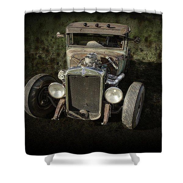 31 Chevy Rat Rod Shower Curtain
