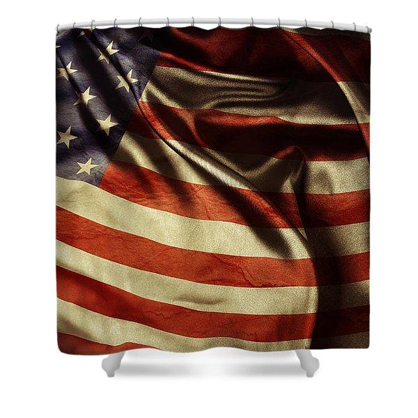 American Flag 51 Shower Curtain