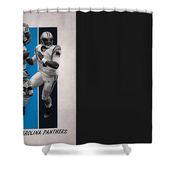 Carolina Panthers Team Flag 2 Shower Curtain
