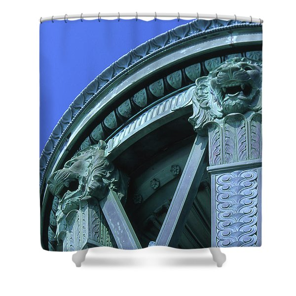 35x11 Perrys Victory Memorial Photo Shower Curtain