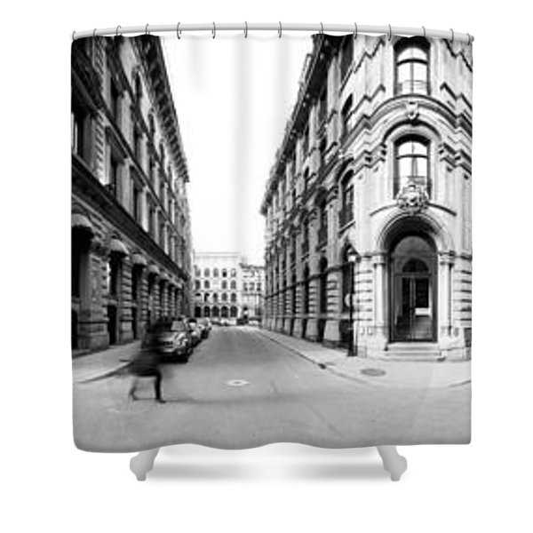 360 Degree View Of A City, Montreal Shower Curtain
