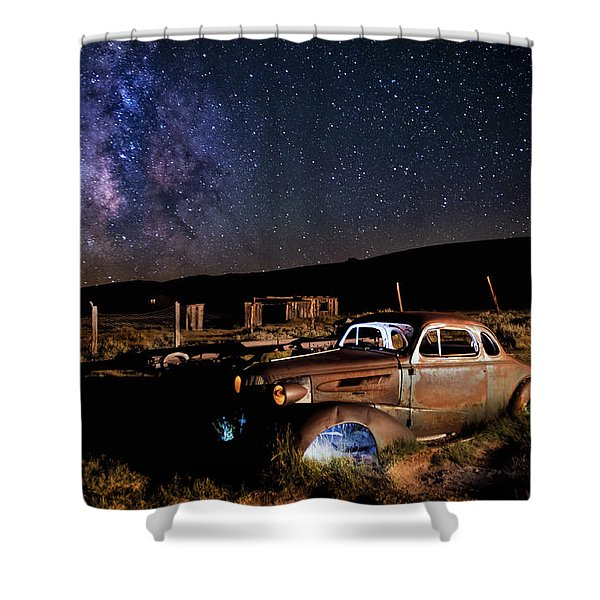 '37 Chevy And Milky Way Shower Curtain