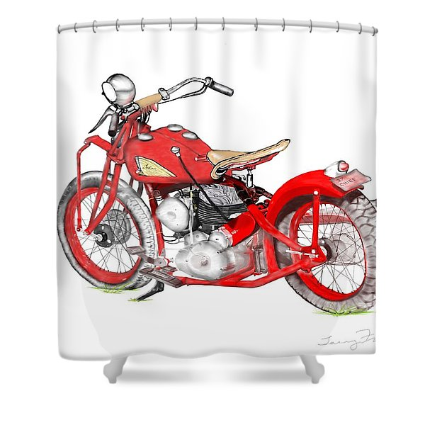 37 Chief Bobber Shower Curtain