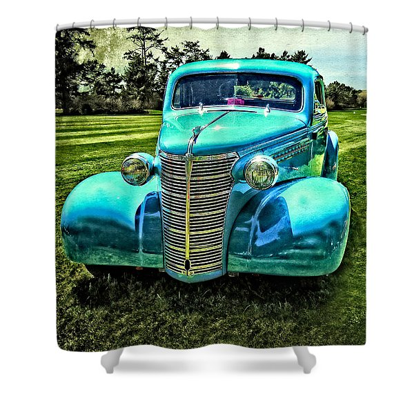 38 Chevy Coupe Shower Curtain
