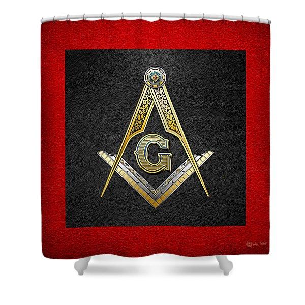 3rd Degree Mason - Master Mason Masonic Jewel  Shower Curtain