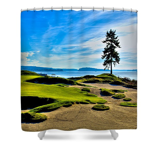 #15 At Chambers Bay Golf Course - Location Of The 2015 U.s. Open Tournament Shower Curtain