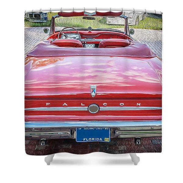 1963 Ford Falcon Sprint Convertible  Shower Curtain
