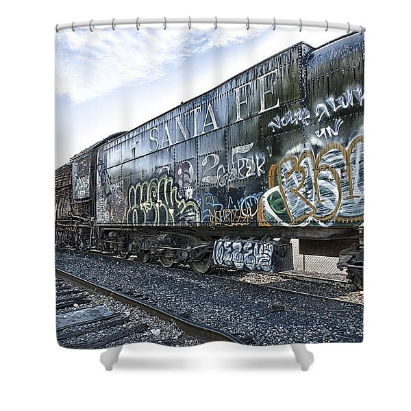 4 8 4 Atsf 2925 In Repose Shower Curtain