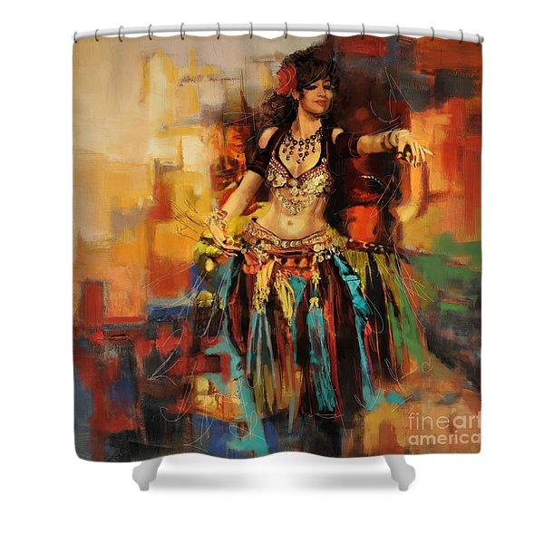 Belly Dancer 9 Shower Curtain