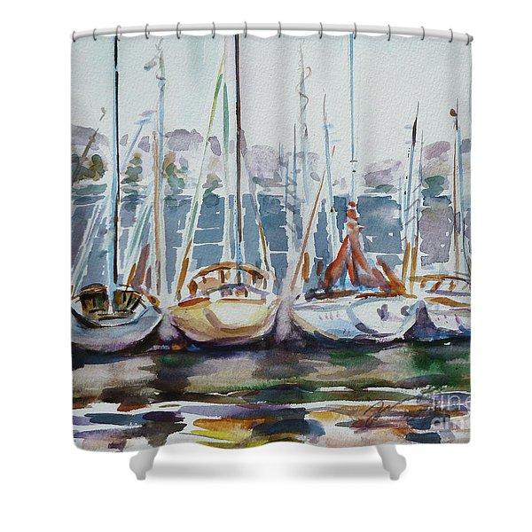4 Boats Shower Curtain