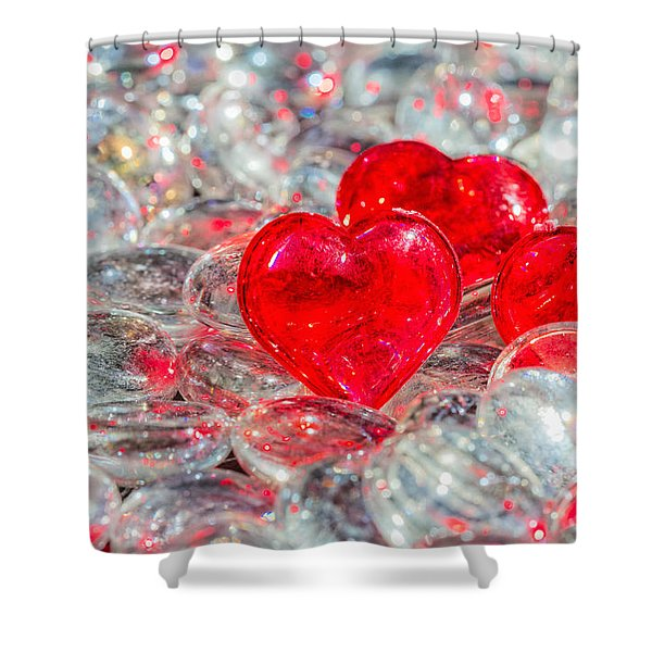 Crystal Heart Shower Curtain