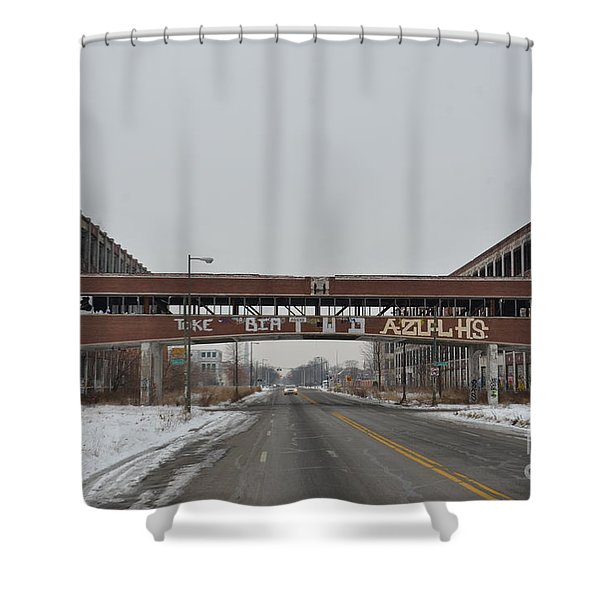 Detroit Packard Plant Shower Curtain