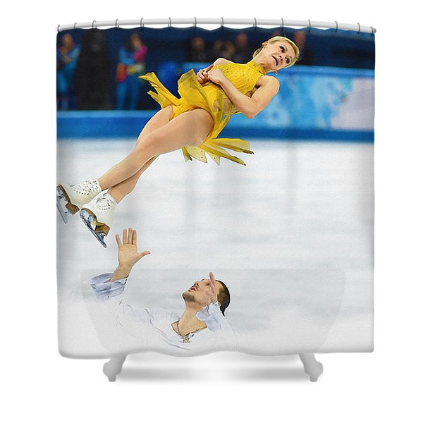 Tatiana Volosozhar And Maxim Trankov Shower Curtain