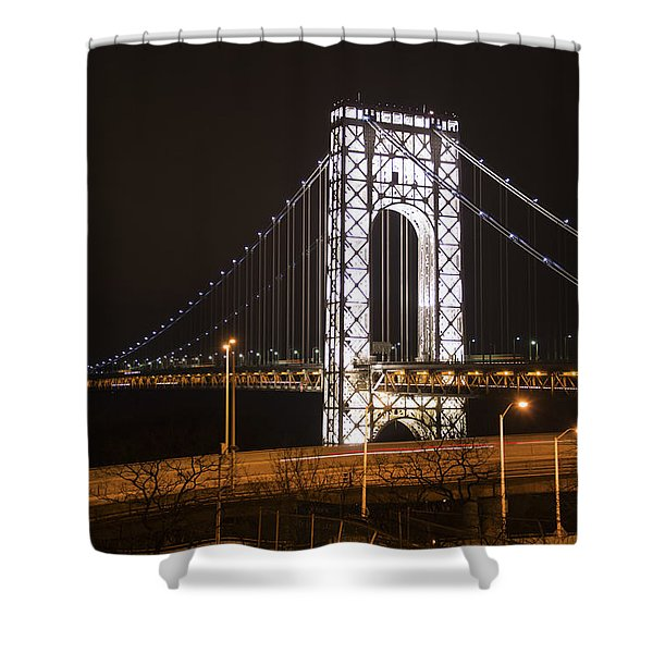 George Washington Bridge On President's Day Shower Curtain