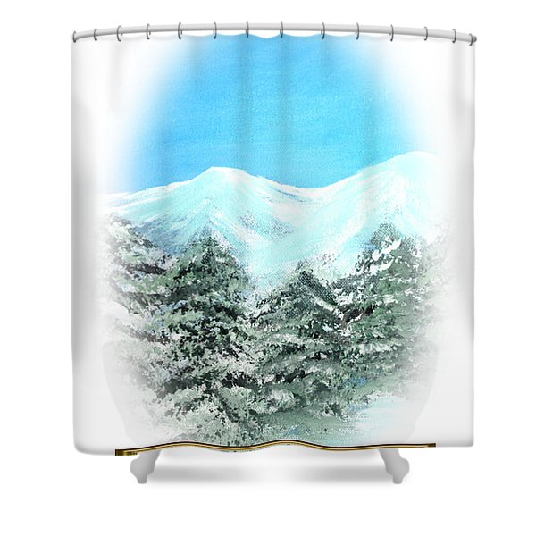 Happy Holidays. Best Christmas Gift Shower Curtain