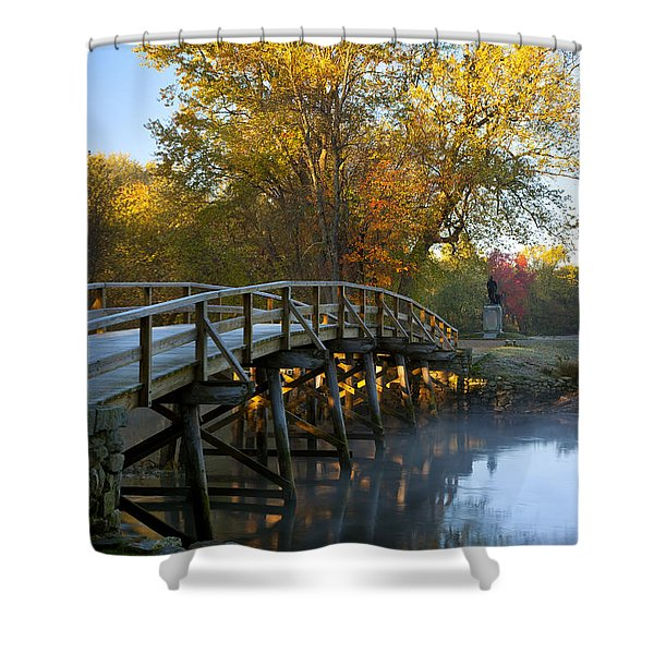 Shower Curtain featuring the photograph Old North Bridge Concord by Brian Jannsen