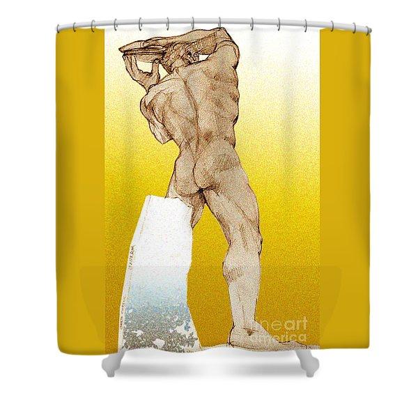 Olympic Athletics Discus Throw Shower Curtain