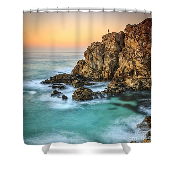 Penencia Point Galicia Spain Shower Curtain