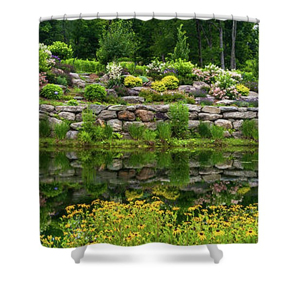 Rocks And Plants In Rock Garden Shower Curtain