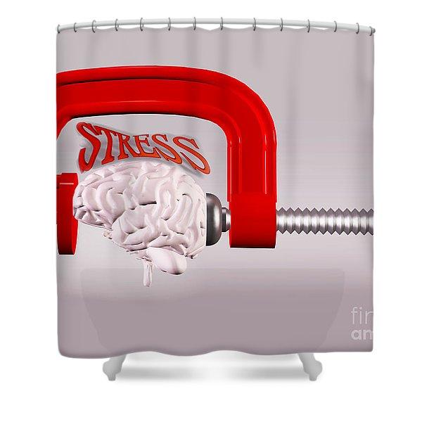 Stress Shower Curtain