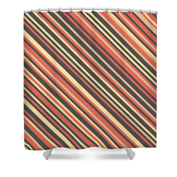 Striped Pattern Shower Curtain