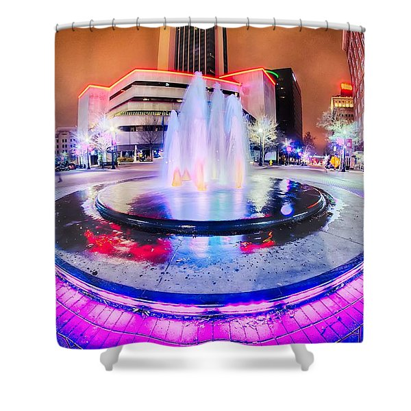 Shower Curtain featuring the photograph Tulsa City Skyline Around Downtown Streets by Alex Grichenko