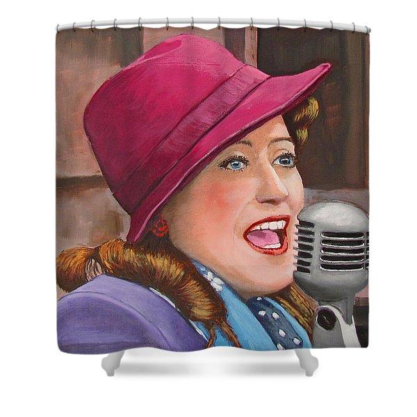 40s Singer Shower Curtain
