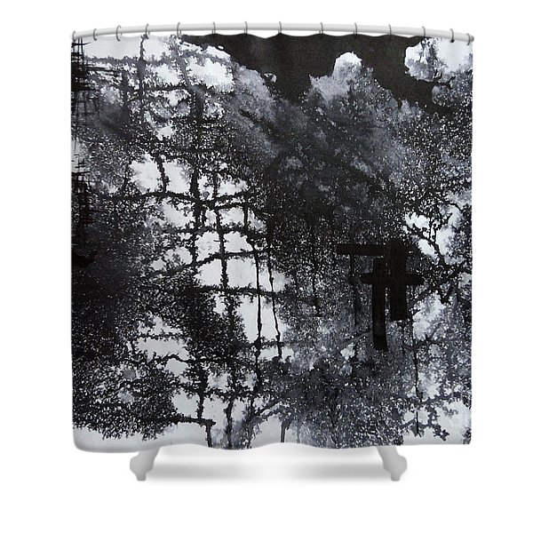 Two Circle Shower Curtain
