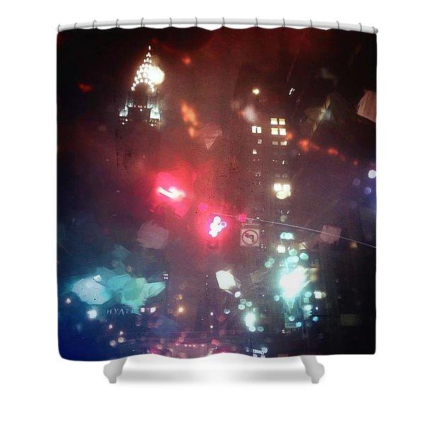 42nd Street 6 Am Shower Curtain