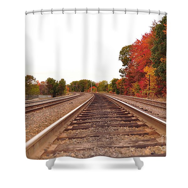 Fall Foliage In New England Shower Curtain
