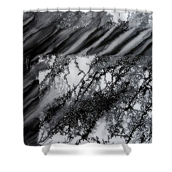 Fencing-3 Shower Curtain