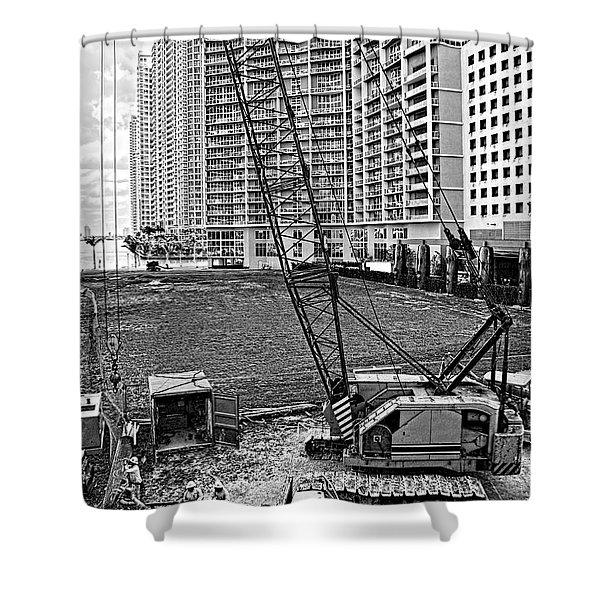 Construction Site-2 Shower Curtain