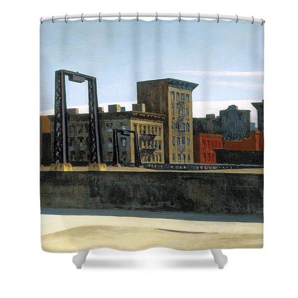 Manhattan Bridge Loop Shower Curtain