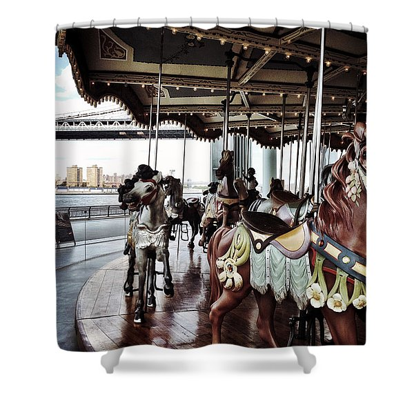 Jane's Carousel Shower Curtain