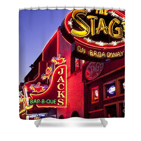 Shower Curtain featuring the photograph Music City Usa by Brian Jannsen