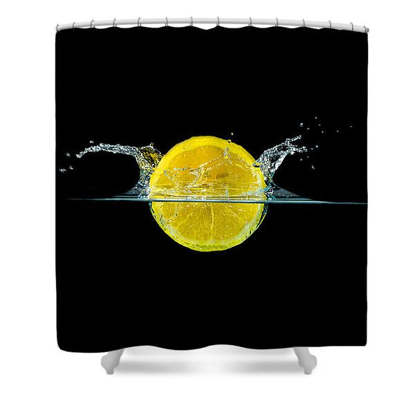 Splashing Lemon Shower Curtain