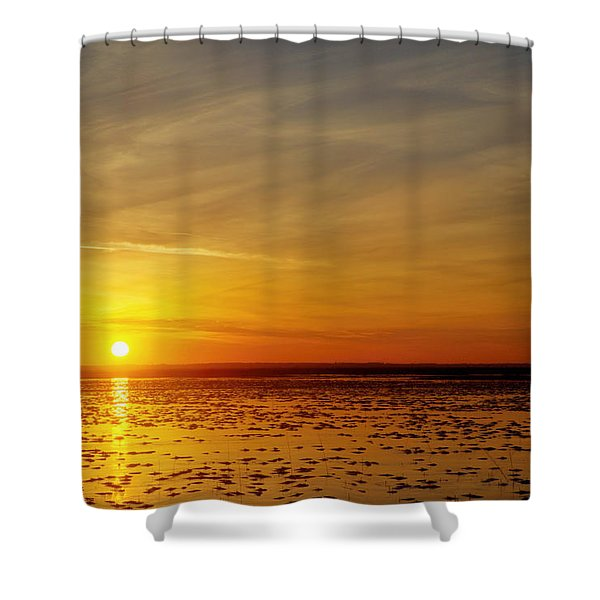 Shower Curtain featuring the photograph Sunset At Cheyenne Bottoms by Rob Graham