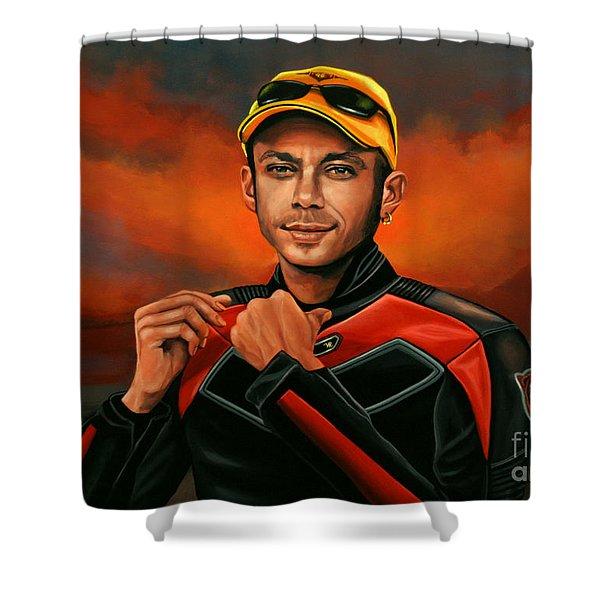 Valentino Rossi  Shower Curtain