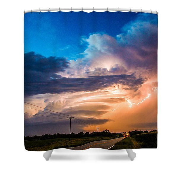 Shower Curtain featuring the photograph Wicked Good Nebraska Supercell by NebraskaSC