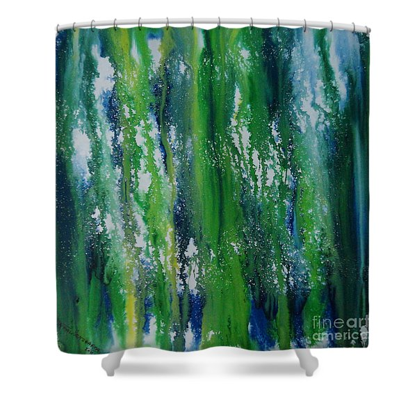 Greenery Duars Shower Curtain