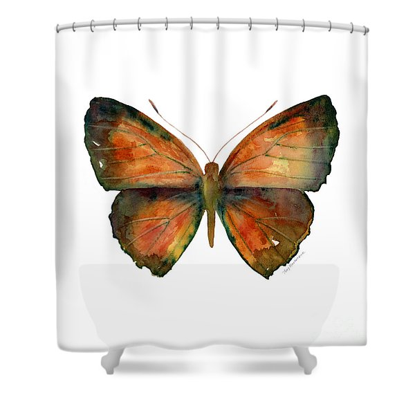 56 Copper Jewel Butterfly Shower Curtain