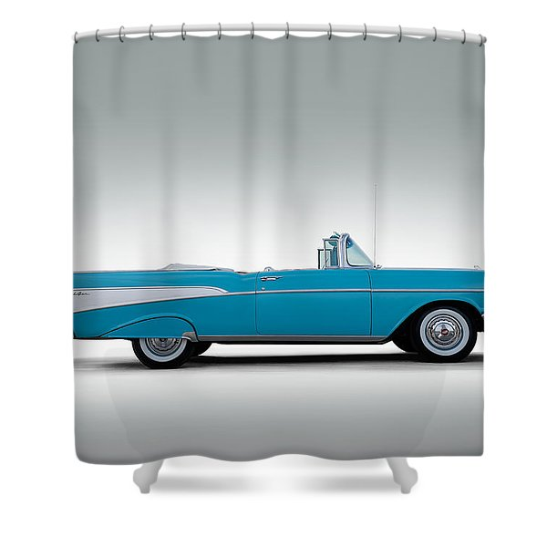 57 Chevy Convertible Shower Curtain