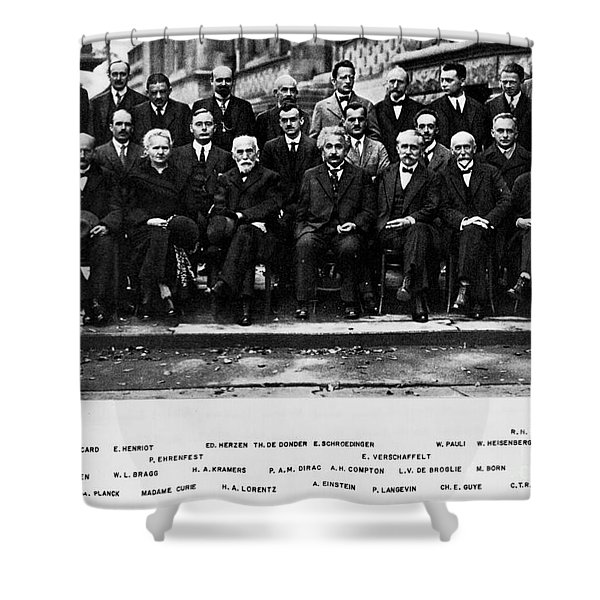 5th Solvay Conference Of 1927 Shower Curtain