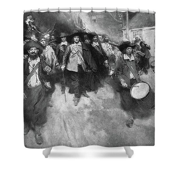 Bacon's Rebellion, 1676 Shower Curtain