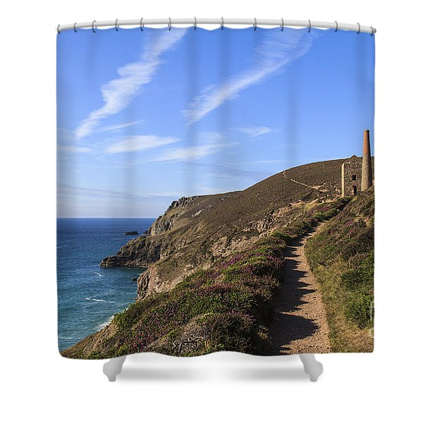 Chapel Porth Cornwall Shower Curtain