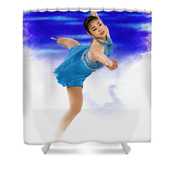 Kim Yuna - Figure Skating Shower Curtain