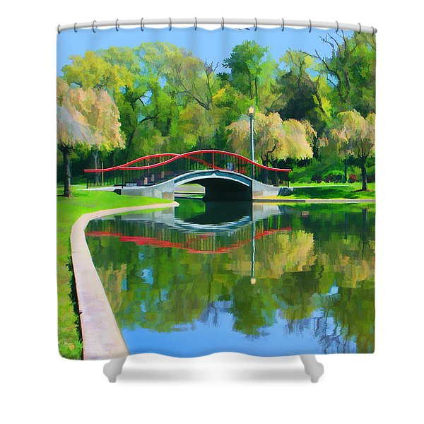 Flyover Shower Curtain