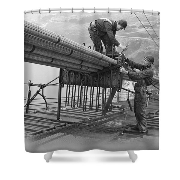Golden Gate Bridge Work Shower Curtain