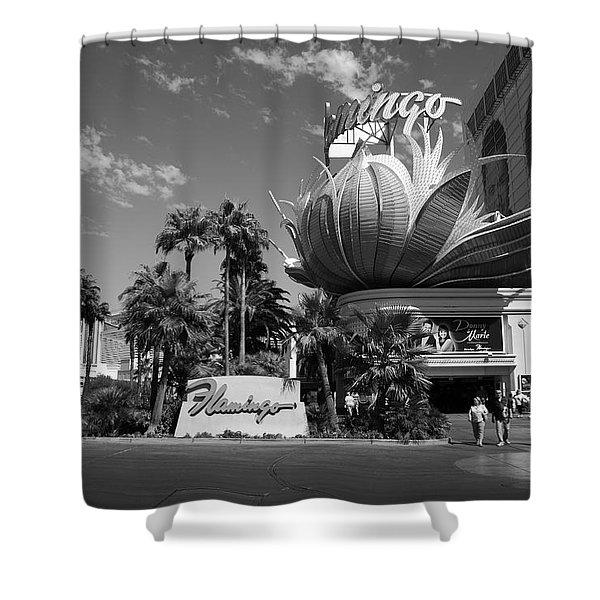 Las Vegas 2008 Bw #1 Shower Curtain
